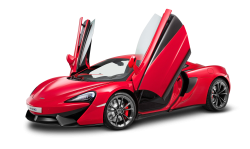 Red McLaren 540C Car PNG Image