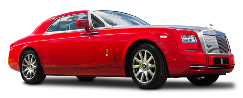 Red Rolls Royce Phantom Coupe Car PNG Image