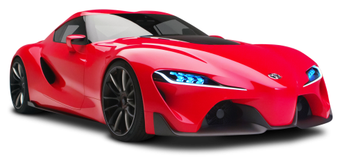 Red Toyota FT1 Sports Car PNG Image
