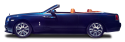 Rolls Royce Dawn Blue Car PNG Image