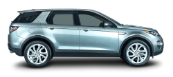 Silver Land Rover Discovery Car Side PNG Image