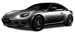 Silver Toyota 86 Style Cb Car PNG Image