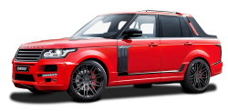 Startech Range Rover Pickup Red Truck PNG Image