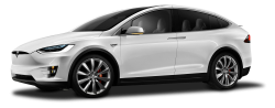 Tesla Model X White Car PNG Image