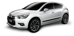 White Citroen DS4 Car PNG image