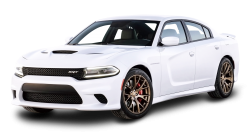 White Dodge Charger Car PNG Image