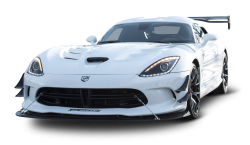 White Dodge Viper ACR Car PNG Image