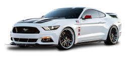White Ford Mustang Apollo Car PNG Image