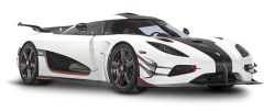 White Koenigsegg One 1 Car PNG Image