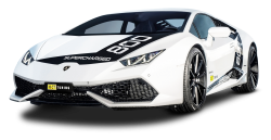 White Lamborghini Huracan O CT800 Supercharged Car PNG Image