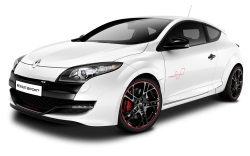 White Renault Megane RS Trophy Car PNG Image