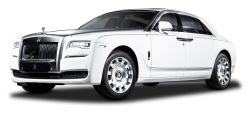 White Rolls Royce Ghost Luxury Car PNG Image