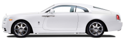 White Rolls Royce Wraith Car PNG Image