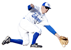 Baseball Player Pick Up the Ball PNG Image