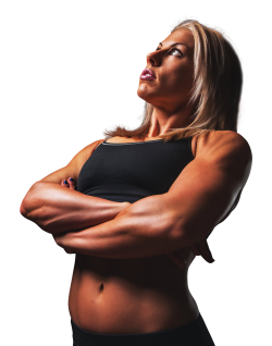 Beautiful Muscular Fit Woman Standing PNG Image