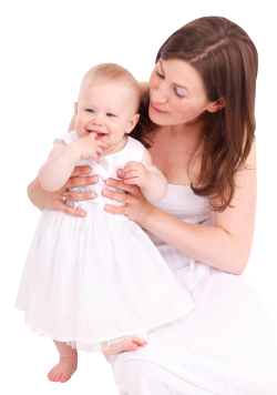 Happy Loving Mother and Her Baby PNG Image