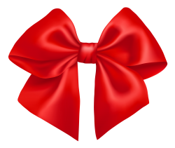 Red Bow PNG Transparent Image