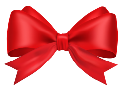 Red Bow Ribbon PNG Transparent Image