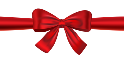 Red Ribbon Bow PNG Transparent Image