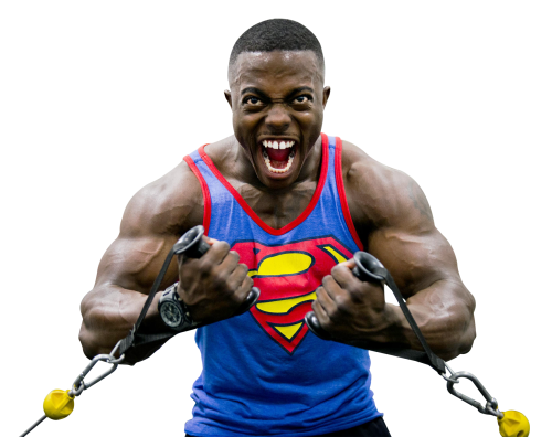 Strong Muscular Body Builder PNG Image