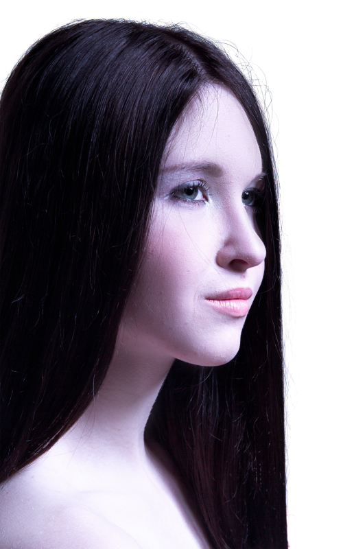 Woman With Long Healthy Straight Hair PNG Image