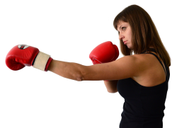 Boxer Woman PNG Transparent Image