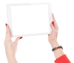 Woman Hands Holding iPad PNG Image