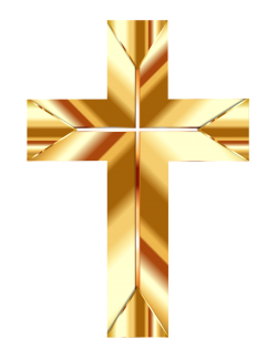 Golden Cross PNG Transparent Image