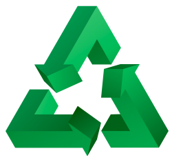 3D Recycle PNG Transparent Image