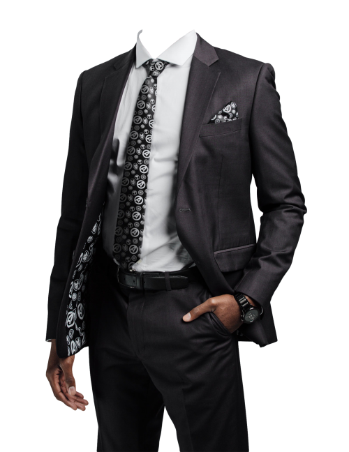 Black Suit PNG Transparent Image