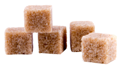 Brown Cane Sugar Cubes PNG Transparent Image