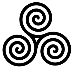 Celtic Triple Spiral PNG Transparent Image