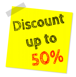 Discount Sticky Note PNG Transparent Image
