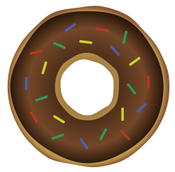 Donut Vector PNG Transparent Image