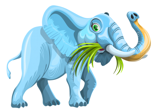 Elephant Vector PNG Image
