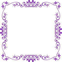 Flowers Frame PNG Image