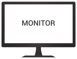 Monitor Vector PNG Transparent Image