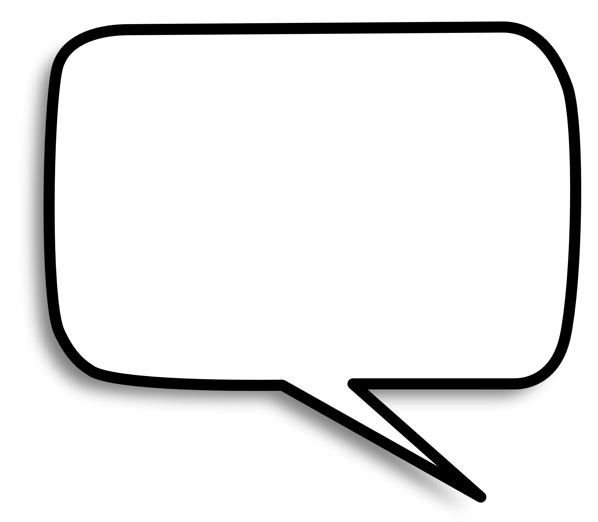 Square Speech Bubble PNG Image - PngPix