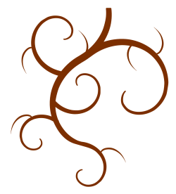 Swirl Branch PNG Transparent Image