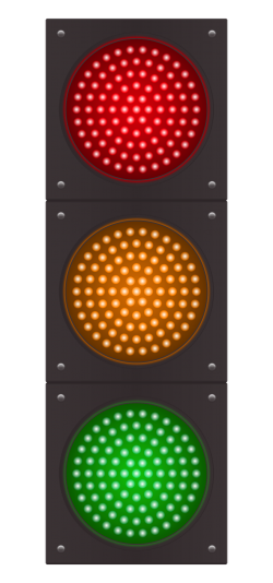 Traffic Light Vector PNG Transparent Image