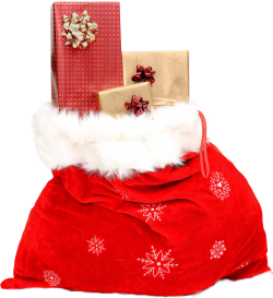 Christmas Sack Gift PNG Transparent Image