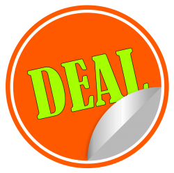 Deal Sticker Vector PNG Transparent Image