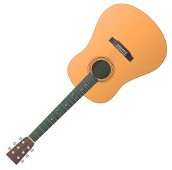 Guitar Vector PNG Transparent Image