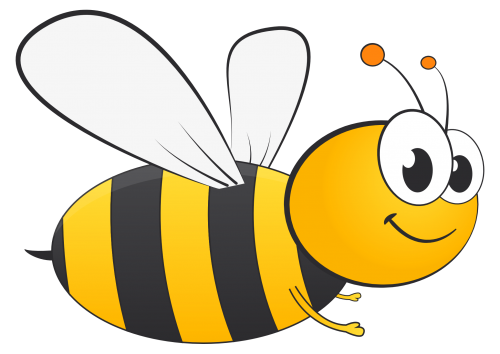 Honey Bee Vector PNG Transparent Image