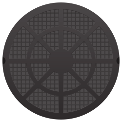 Manhole Cover Vector PNG Transparent Image