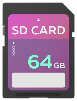 SD Card Vector PNG Transparent Image