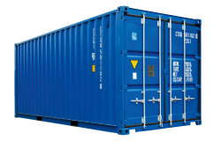 Blue Container PNG Transparent Image